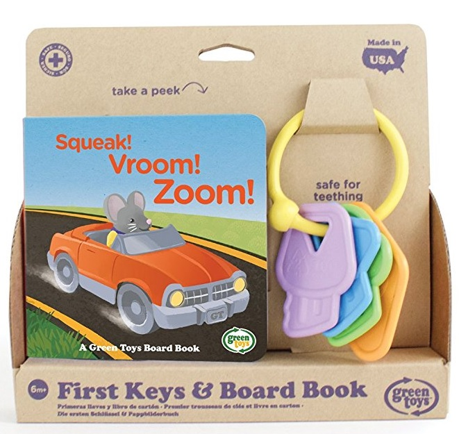 Green Toys First Keys & Board Book: Sale $5.49, Regular $12.99