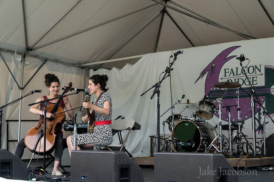 This is us playing at Falcon Ridge's Emerging Artist Showcase in August. Thanks to Jake Jacobson for the photo.