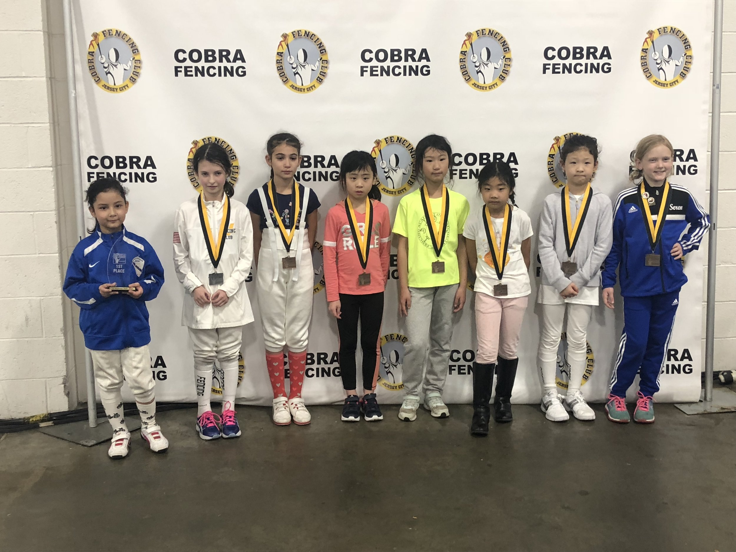 SYC Y8 women's foil  Emily Cascone 1st place November 25th 2018