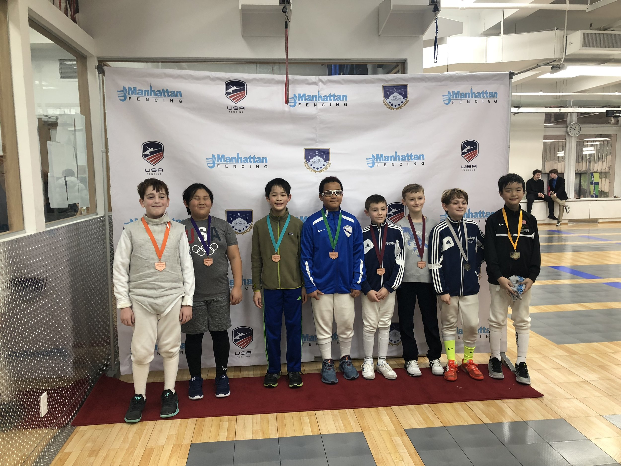 Manhattan Fencing Center Youth  Jackson Widoff-Woodson 5th place Y10 men's Robert Gofman 8th place Y10 men's December 2nd 2018