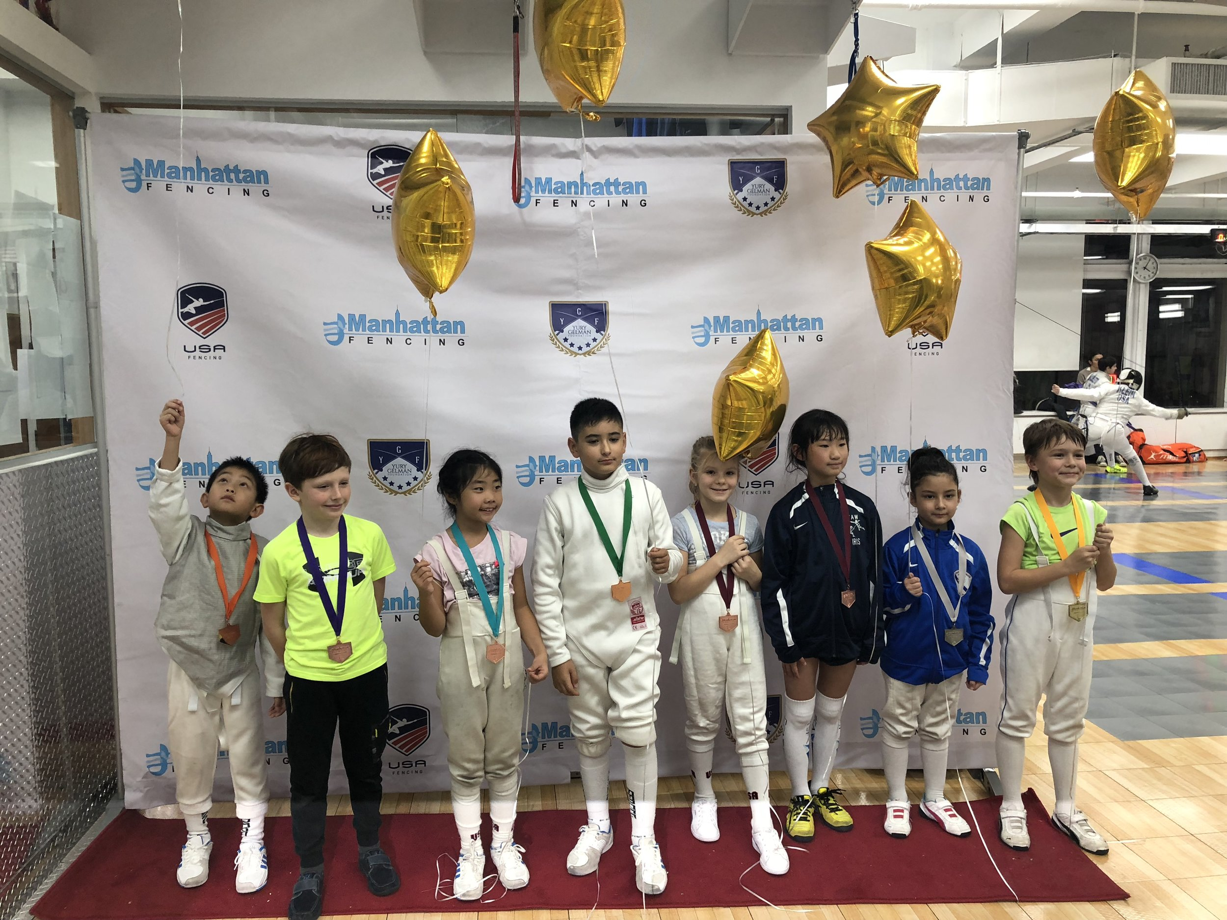 Manhattan Fencing Center Youth  Emily Cascone 2nd place Y8 mixed December 2nd 2018