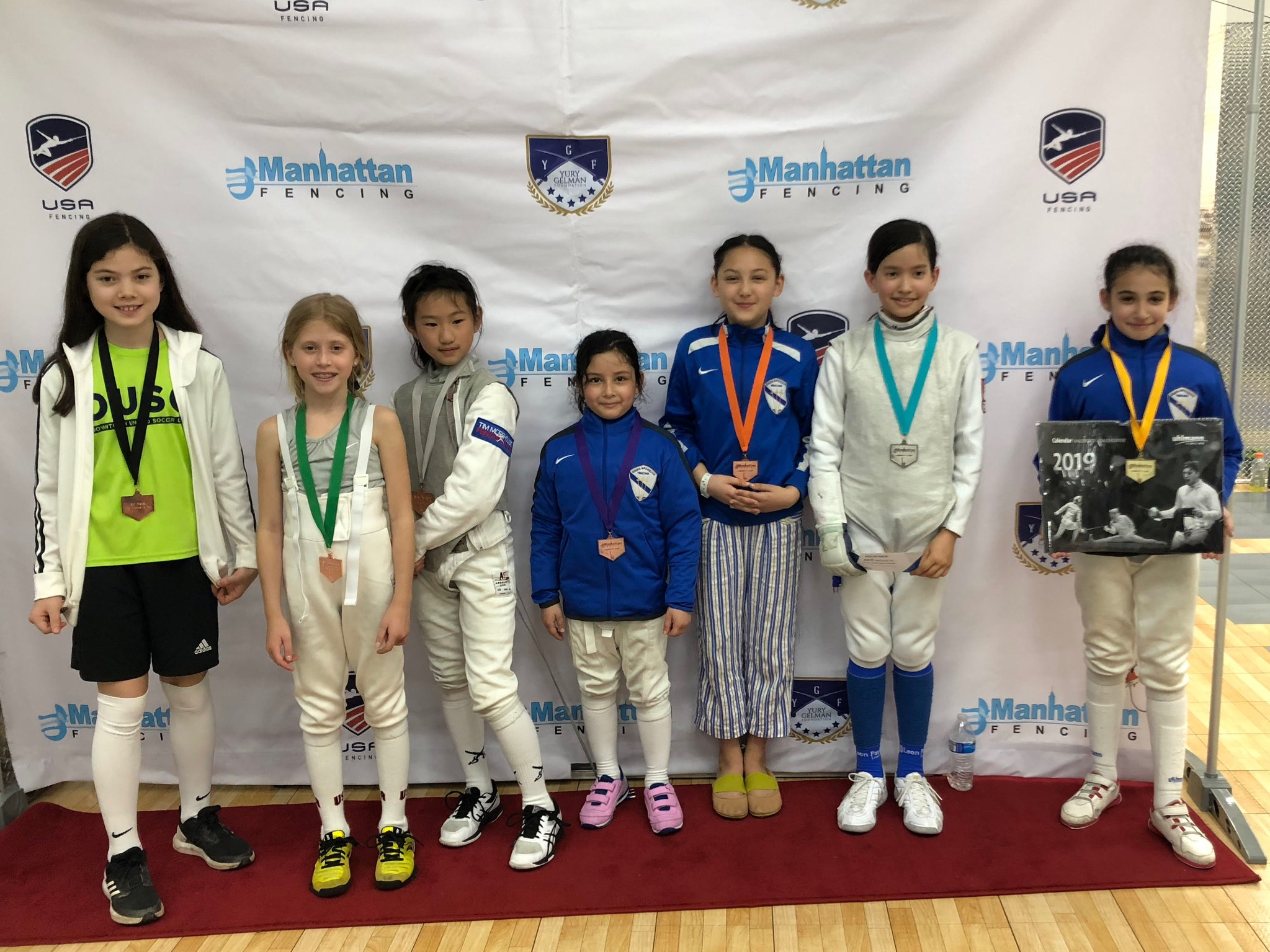 MFC LIBERTY CUP 2019 - Y10 women's foil Sara Amr Hossny 1st place  Emily Cascone 3rd place  Alex Lambrechts 3rd place  Alma Kreimer 15th place  May 19th 2019