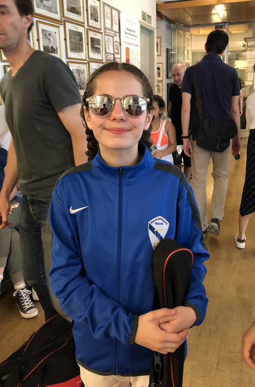Fencers Club - Y12 women's foil Xeta Devlin 9th place   May 26th 2019