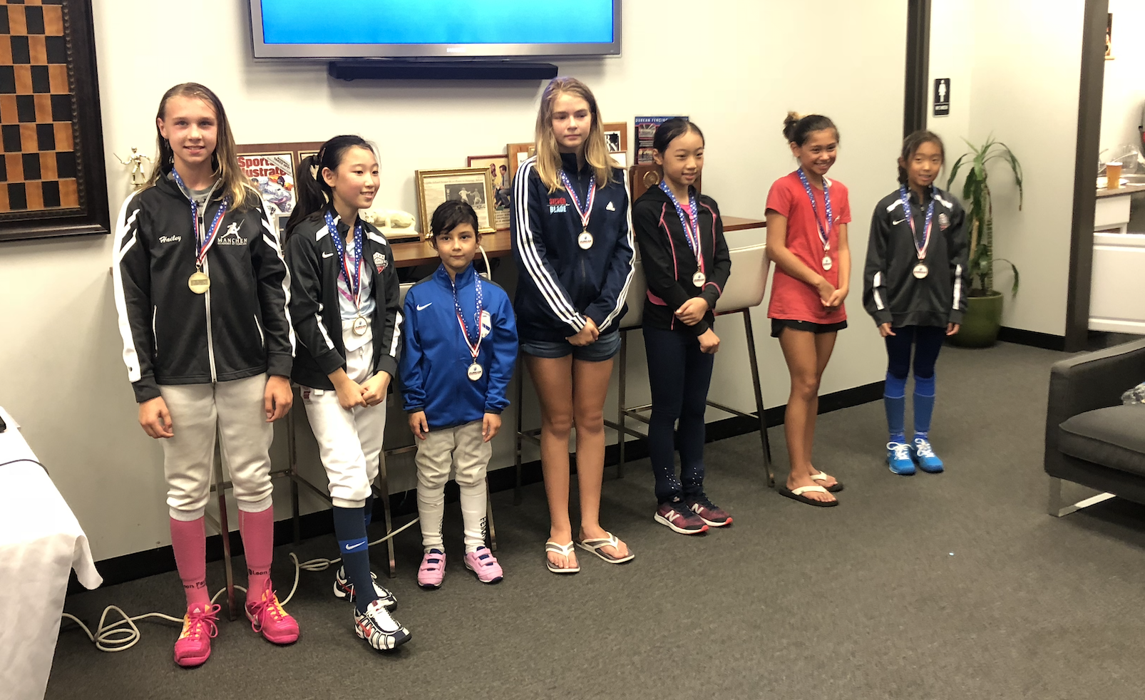 Durkan Fencing Academy RYC   Emily Cascone 3rd place Y12 Womens Foil  August 18th 2019