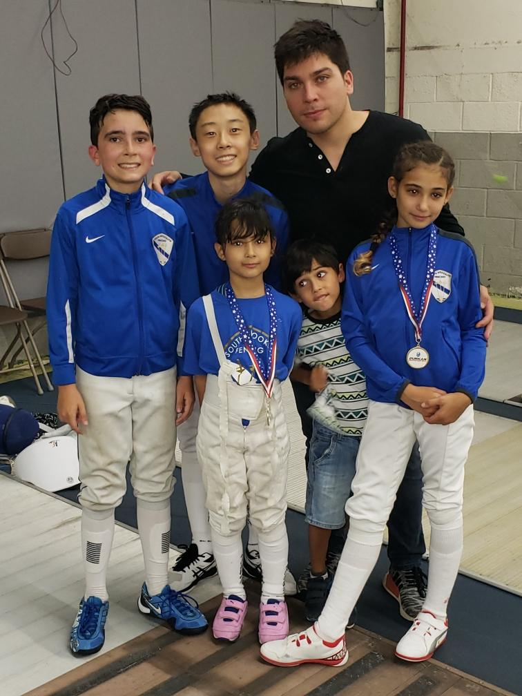 Durkan Fencing Academy RYC   Sara Amr Hossny 1st place Y10 Womens Foil  Emily Cascone 3rd place Y10 Womens Foil Sebastian Garcia 11th place Y14 Mens Foil  (E19) Jacob Guo 16th place Y14 Mens Foil  August 17th 2019