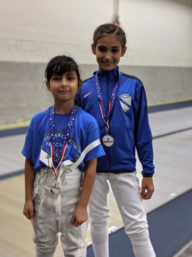 Durkan Fencing Academy RYC   Sara Amr Hossny 1st place Y10 Womens Foil  Emily Cascone 3rd place Y10 Womens Foil  May 17th 2019