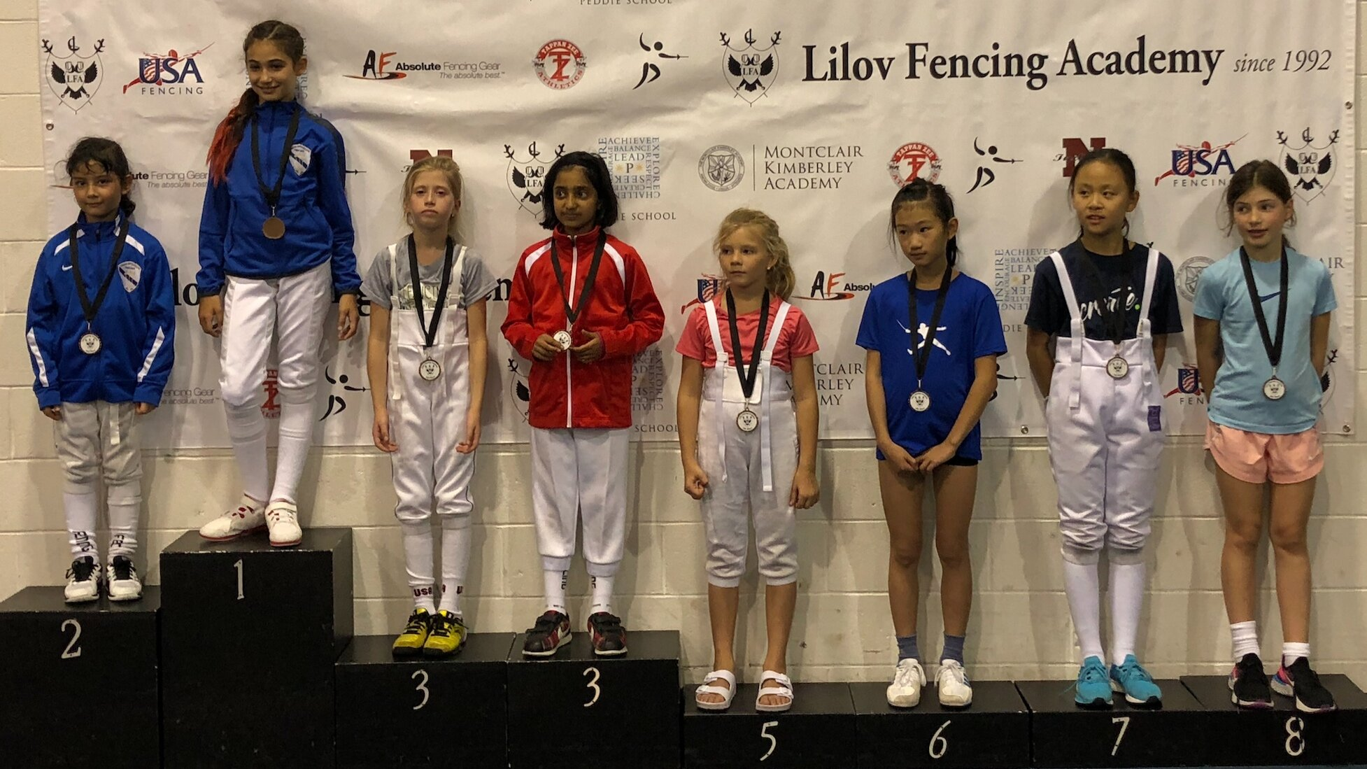 ALBERT CHIKAYEV MEMORIAL RYC  Sara Amr Hossny 1st place Y10 Womens Foil Emily Cascone 2nd place Y10 Womens Foil Mariia Yurkova 3rd place Y10 Womens Foil  September 14th 2019