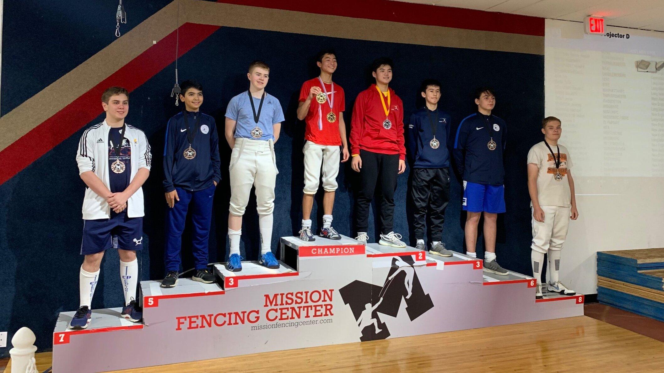 MISSION RJCC   Timur Yuldashev 8th place Cadet Mens Foil  September 21st 2019