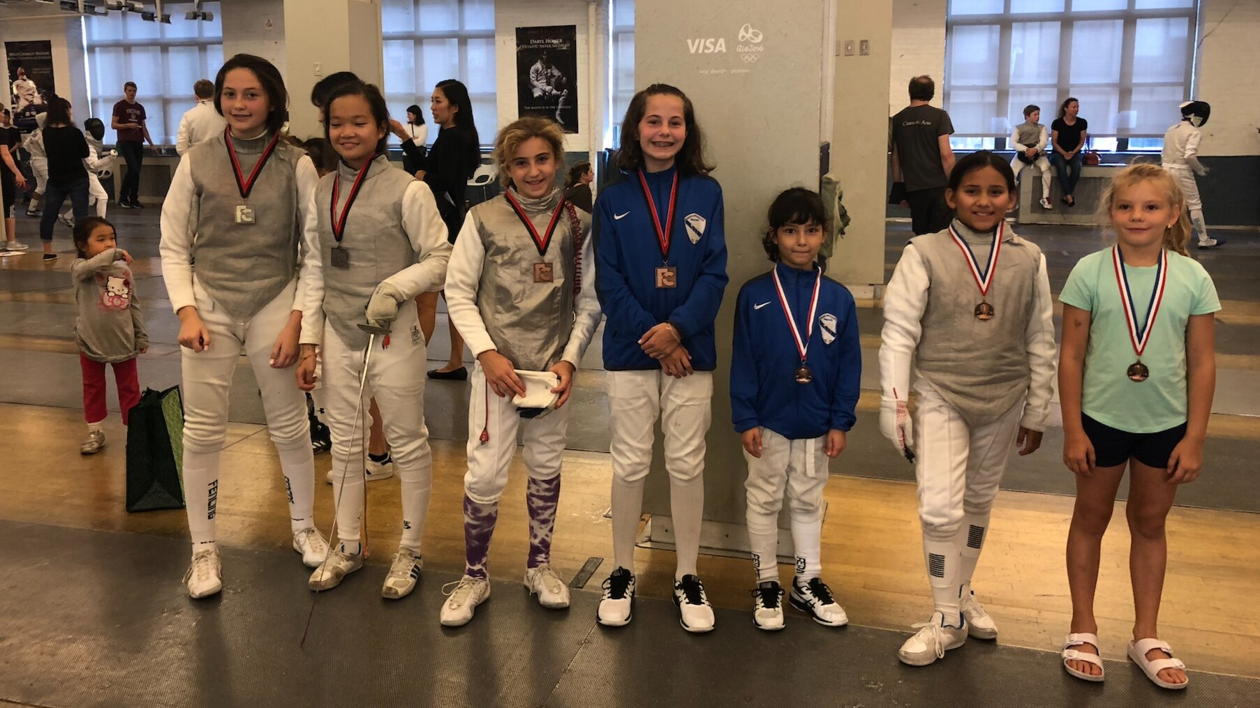 FC Youth Tournament   Xeta Devlin 3rd place Y12 Womens Foil  Emily Cascone 5th place Y12 Womens Foil Adela Woodcock 10th place Y12 Womens Foil  September 22nd 2019