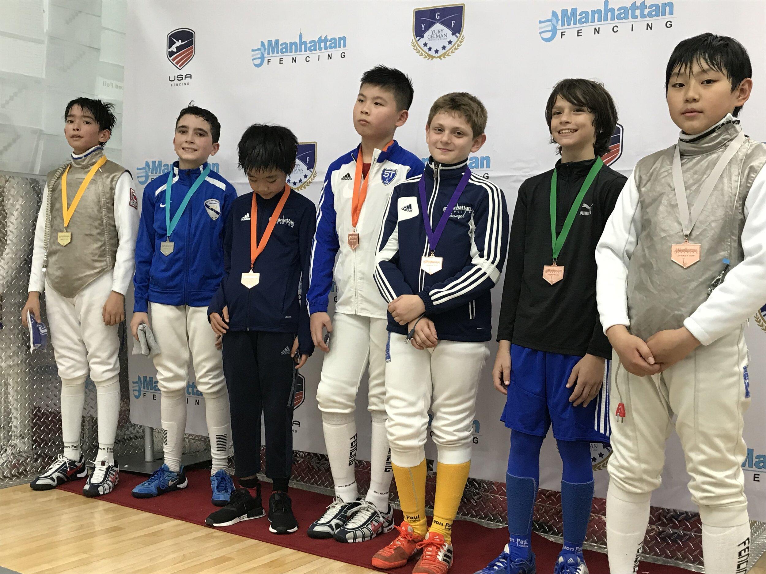 MFC Liberty Cup Y12 men's foil  Sebastian Garcia 2nd place