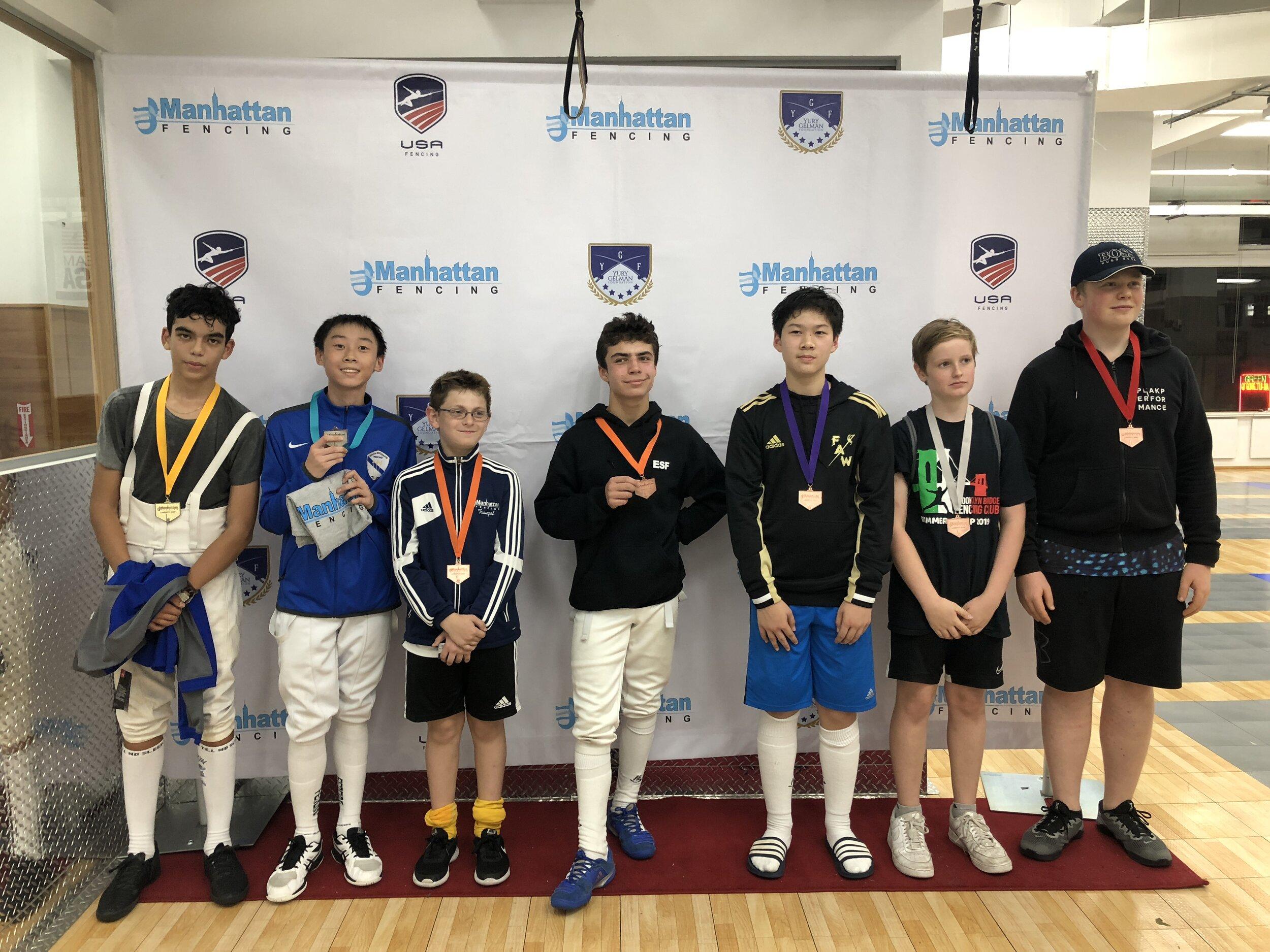 MFC Liberty Cup Y14 men's foil  Jacob Guo 2nd place