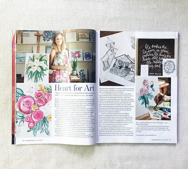 So excited and honored to be featured in @southernladymag this month!!!! Feeling like a southern lady 🙆🏼