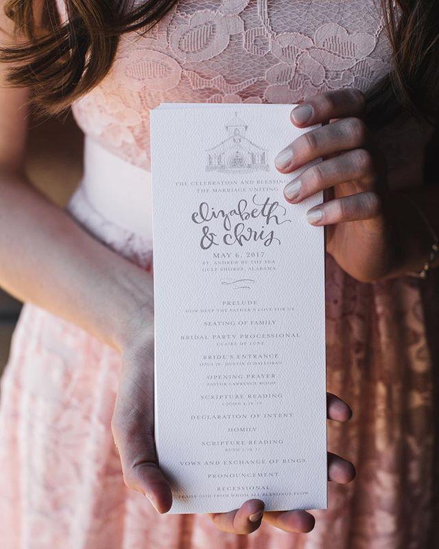 program details 👌🏼💕 #weddinginspiration #weddingdesign #weddingprograms #summerwedding #handlettering #flourishforum #thatsdarling #darlingweekend #pursuitofpretty #creativecorner #birminghamartist #birmingham #alabamaweddings