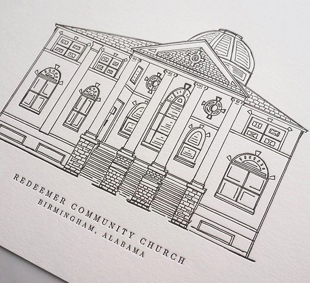 I have 10 more prints of a special letterpressed run of this @rccbirmingham sketch. Let me know if you'd like to claim one! (Thank you @afterpress for the beautiful work!)