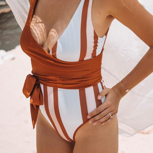 BAIIA LABEL - the easy wrap on swimmy that you'll wear to dinner with linen pants.
