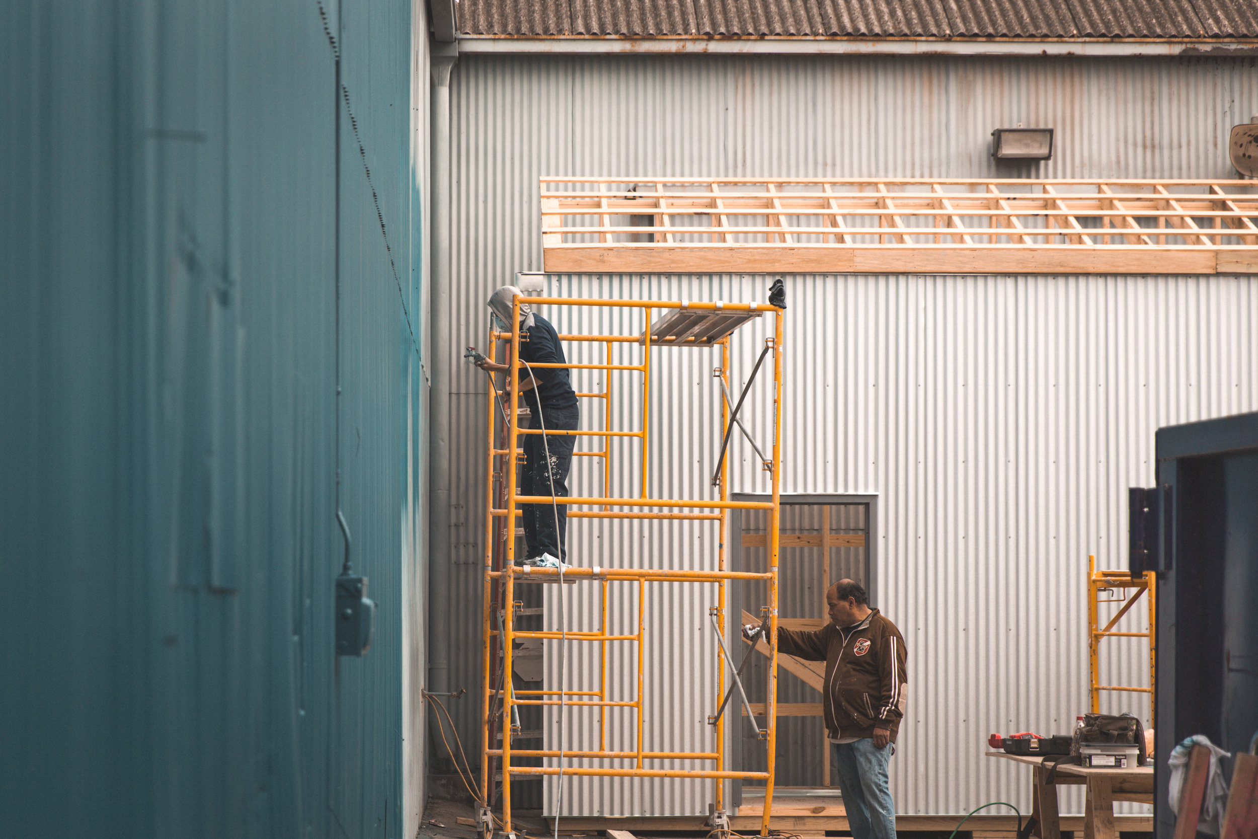 Miel Brewery_Under Construction_Painting Building_1.jpg