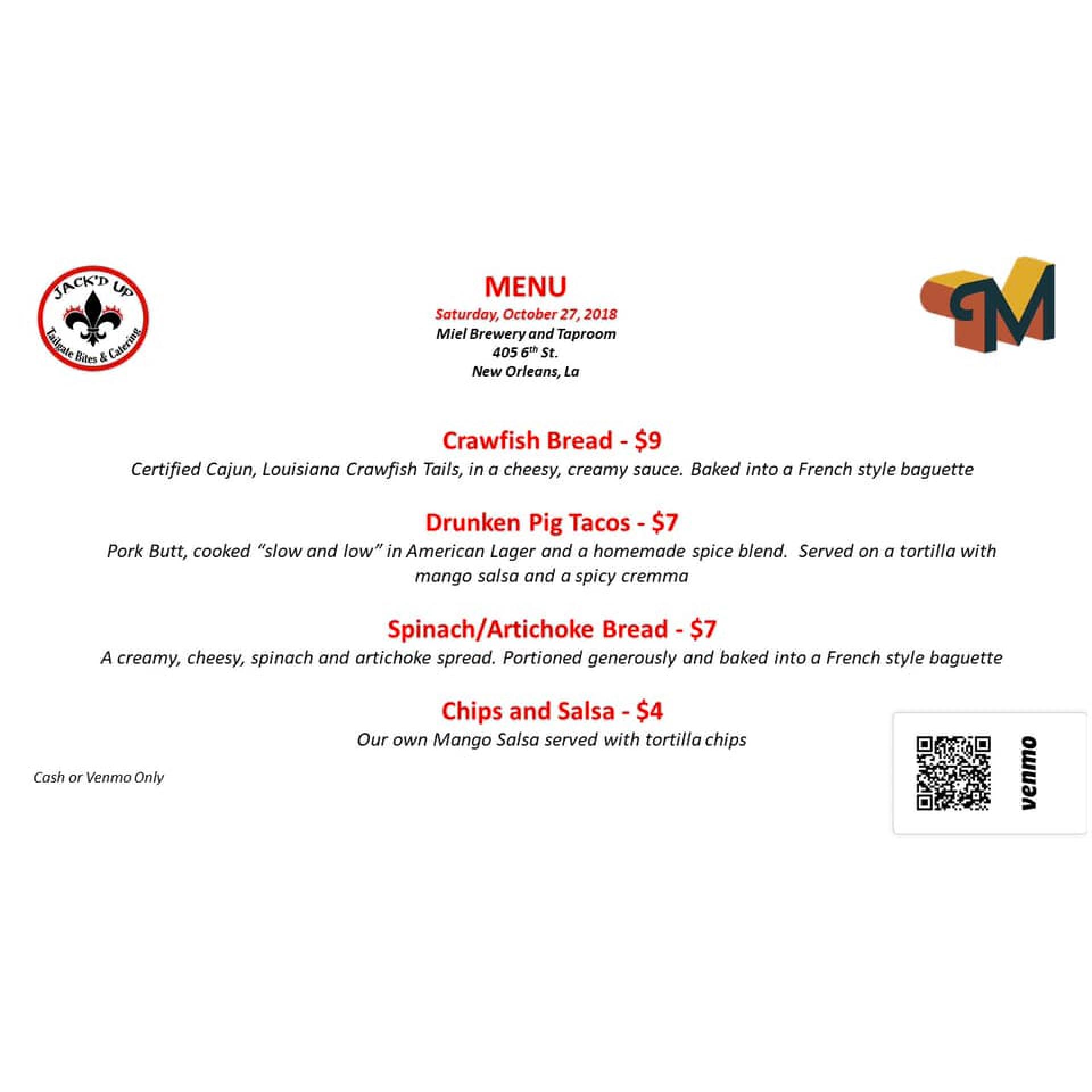 Miel Brewery_Jackd up pop up menu