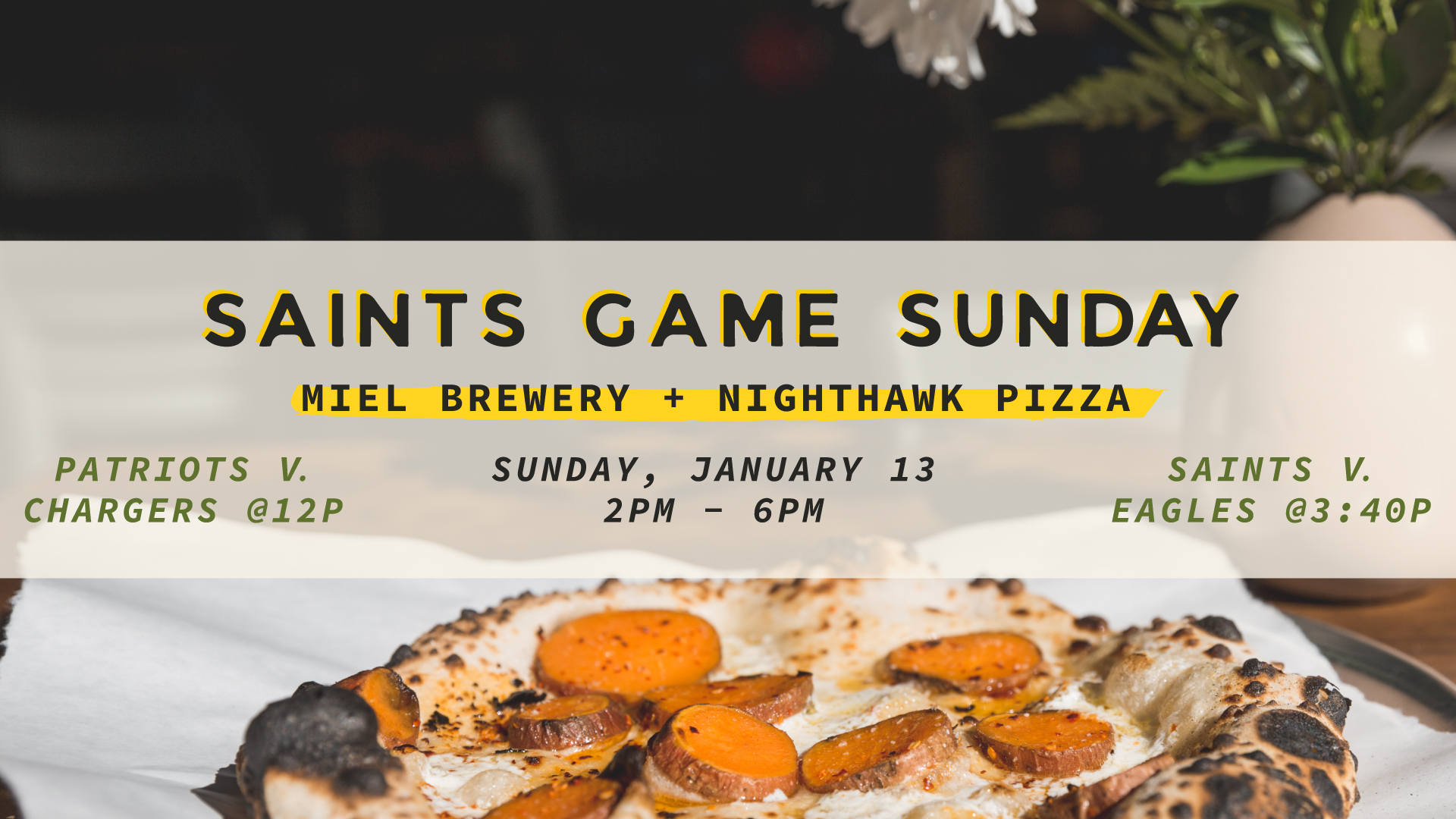 Miel Brewery_Saints game football party