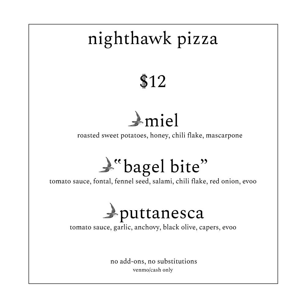 Miel Brewery_New Orleans_Nighthawk Pizza pop up_menu
