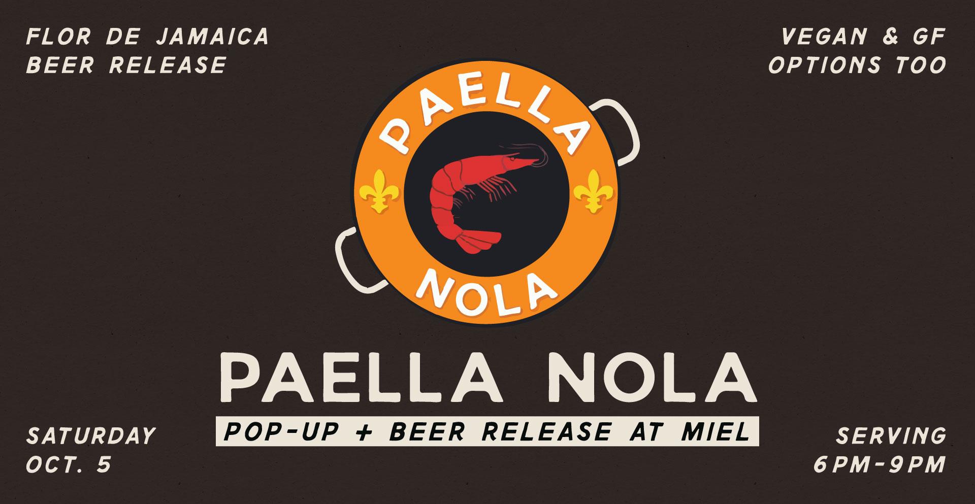 Miel Brewery_New Orleans_Paella Nola Pop-Up_October 5 2019