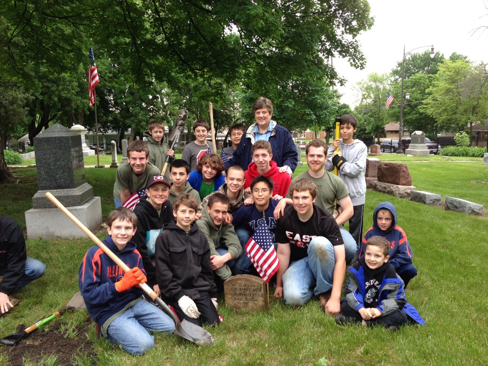 Lombard Cemetery Cleanup