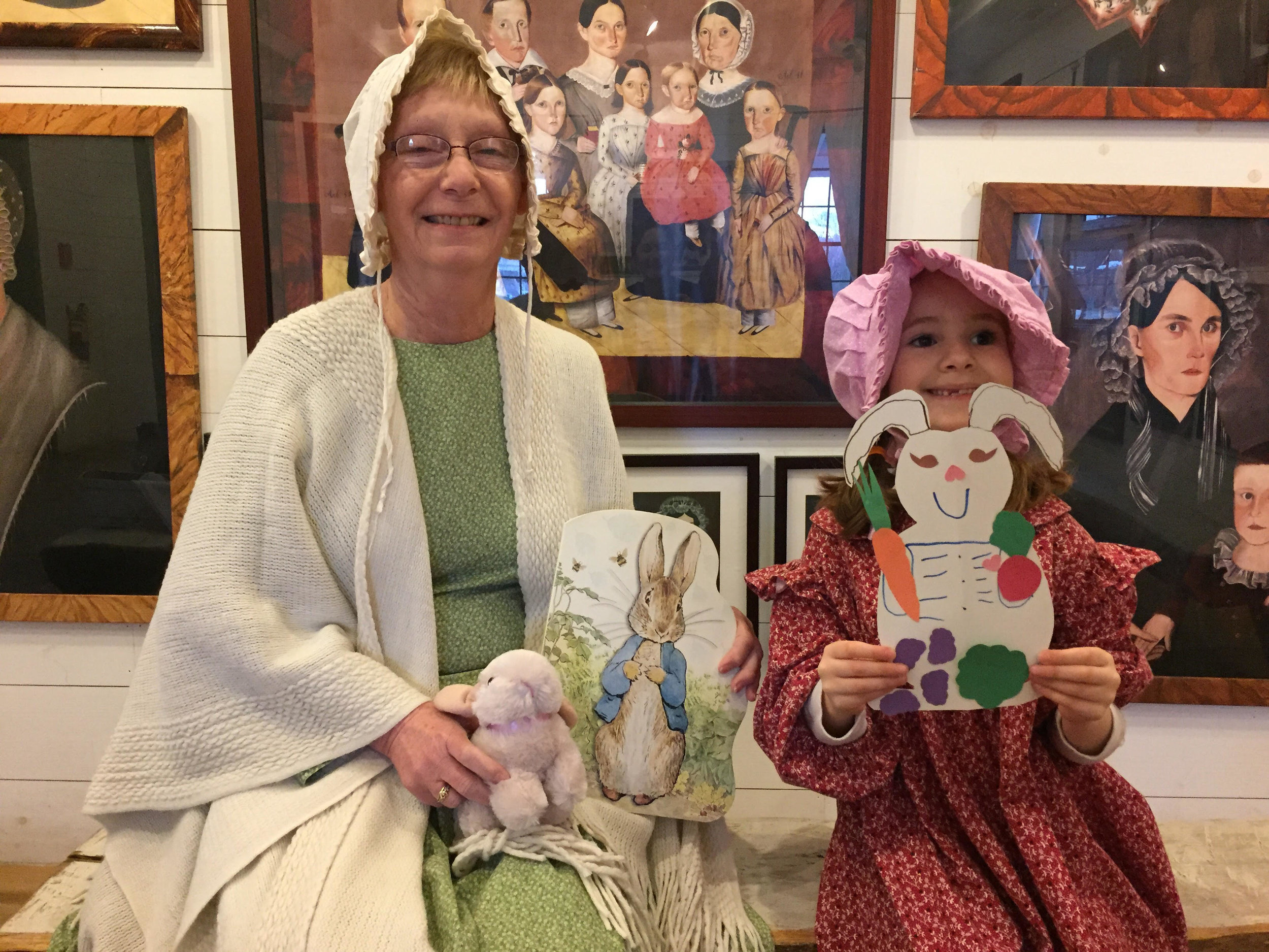 Peck homestead docent and young history buff