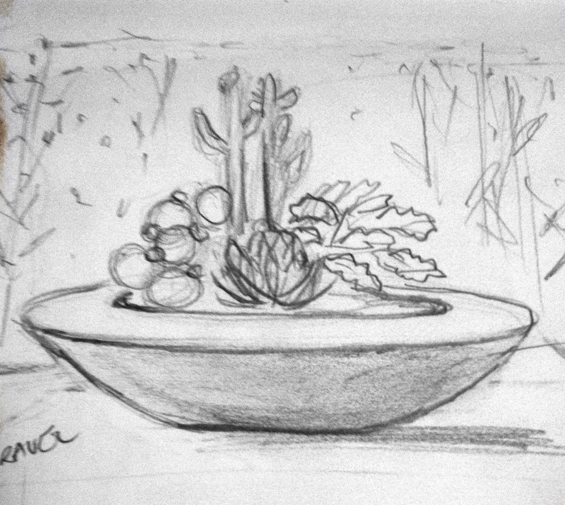 sketch for planted bench idea