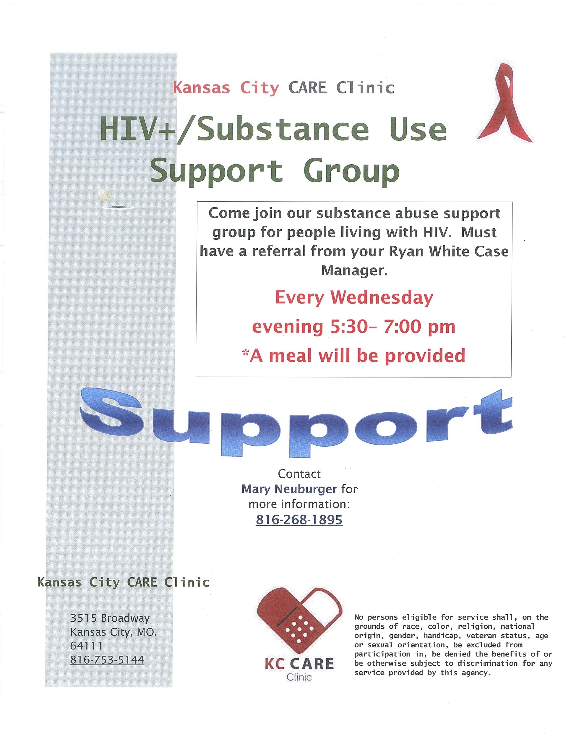 HIV+ Substance Use Support Group
