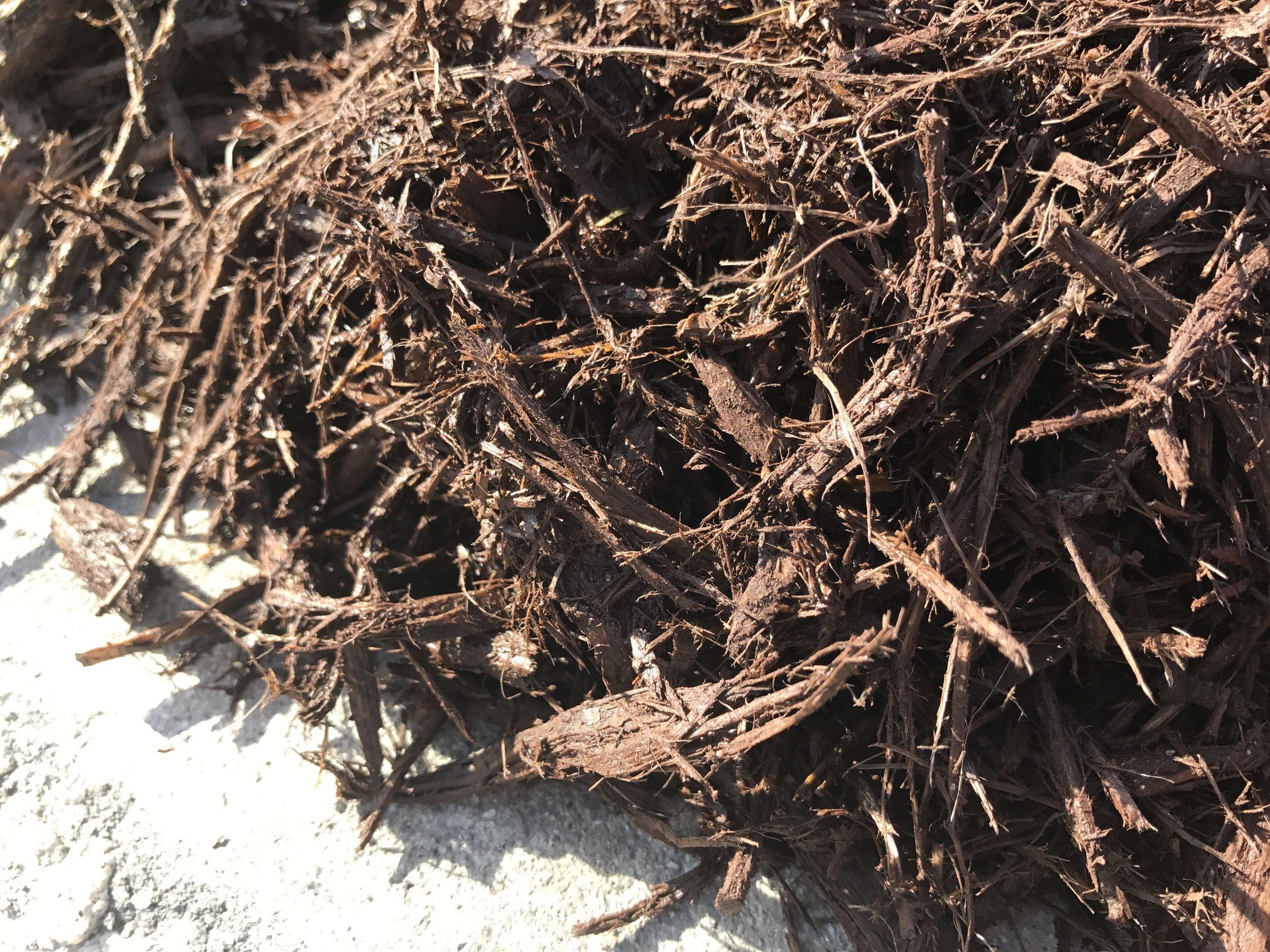 Brown Mulch Texture