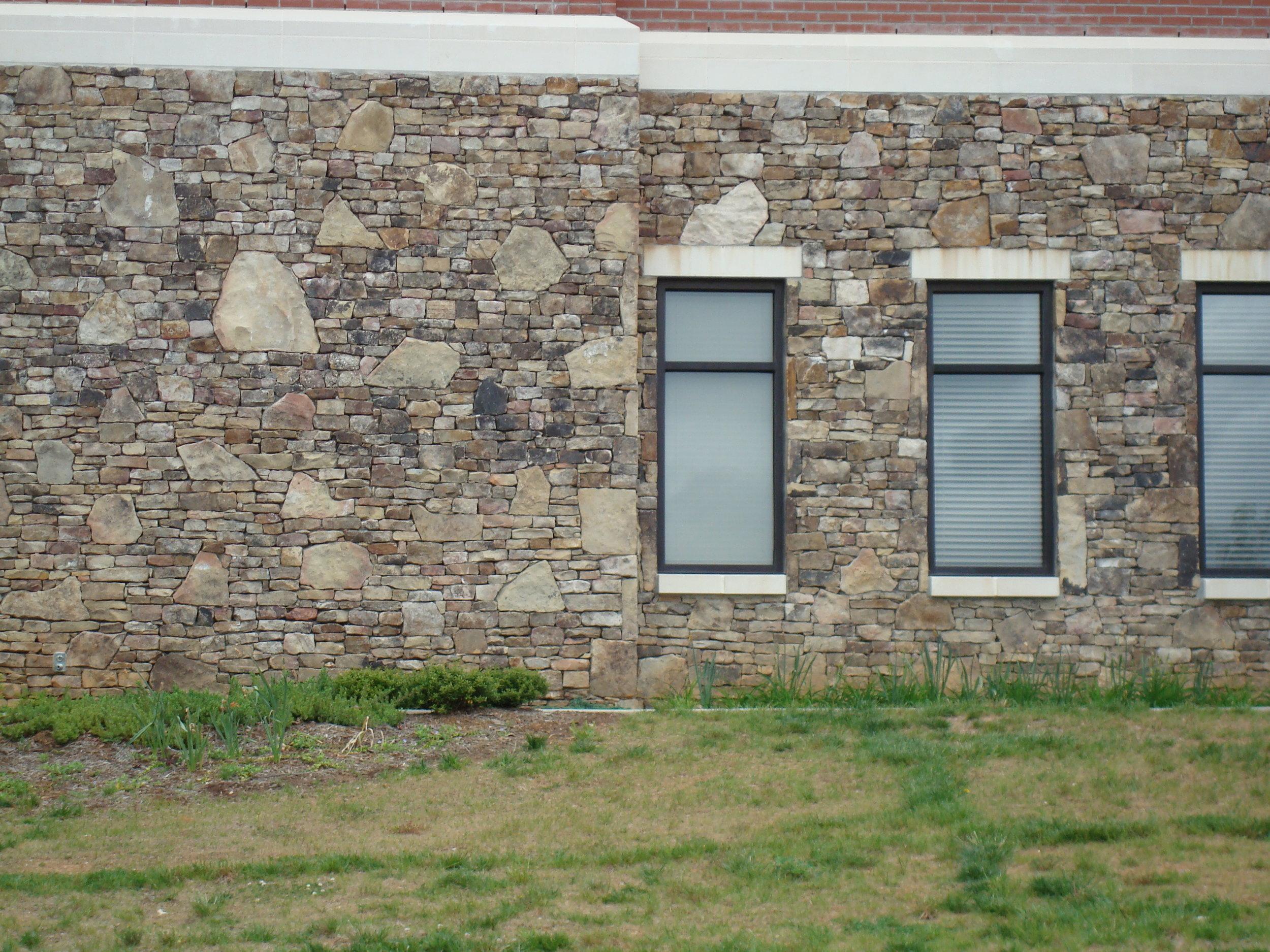 Medium Fieldstone Wall Installation