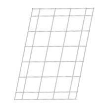 Vertical Grid 28 ⅜ x 42 ½ Can be installed horizontally and vertically.