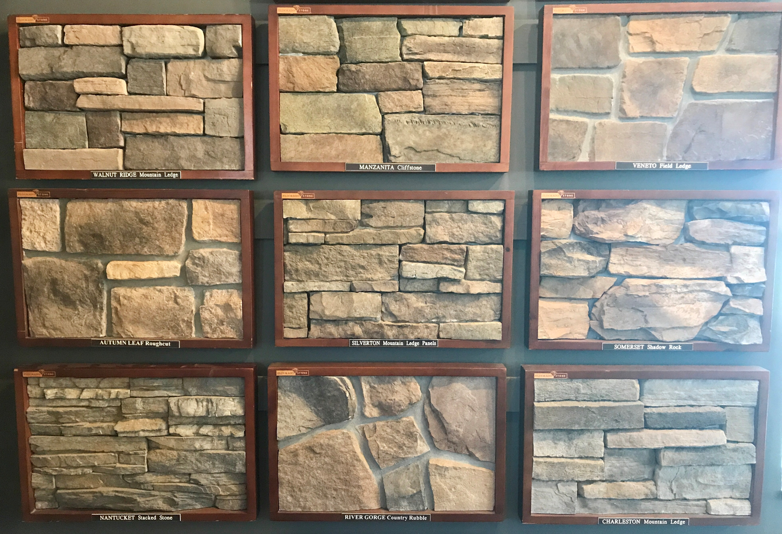 El DORADO  - This company produces top quality synthetic stones. It is very popular among both homeowners and contractors due to the colors being casted within the stone and also the large selection they provide with both styles and colors.
