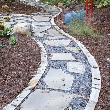 Rubble - Comes from flagstone slabs with straight edges