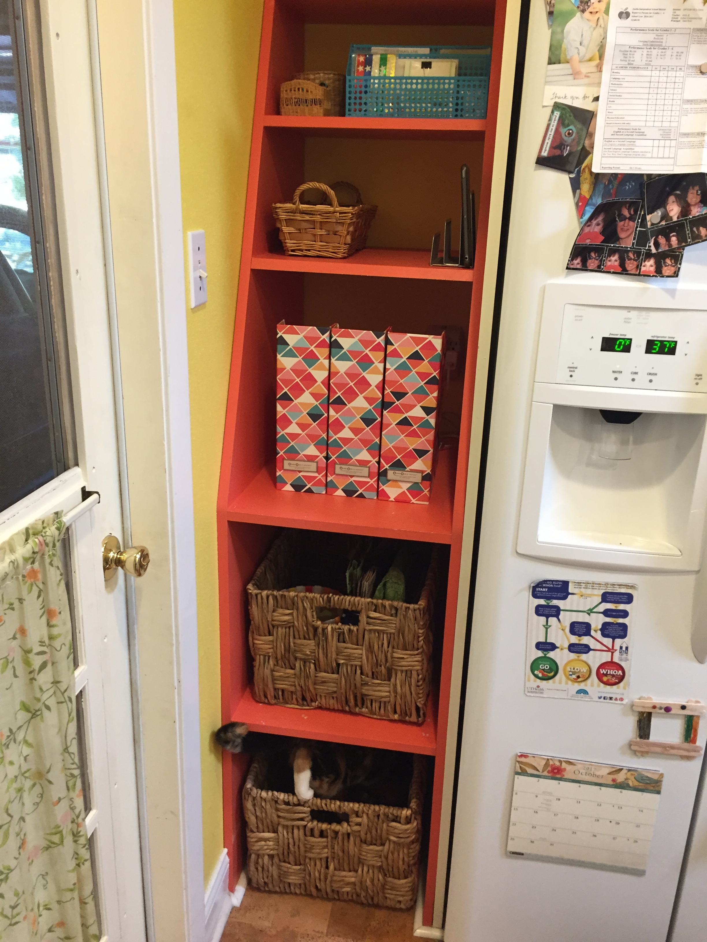 "AFTER: Prune & Bloom transformed Jennifer's ""parking lot"" into more of a ""mission control"" - making the family's daily, go-to items more readily accessible, visible...and visually pleasing (...exhale)."