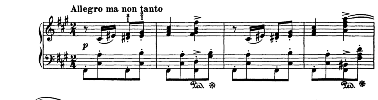 Example 1, mm. 1 - 4