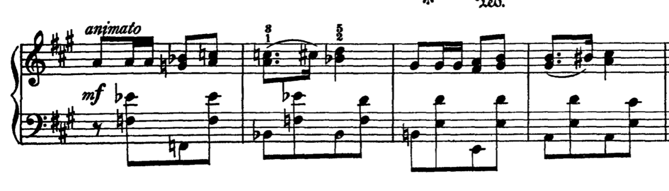 Example 3, mm. 39 - 42