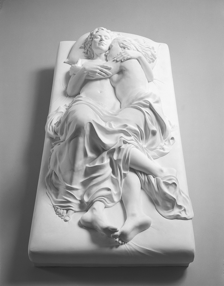 Patricia Cronin, maquette,  Memorial to a Marriage , 2002. Plaster, 53 x 27 x 17 in.