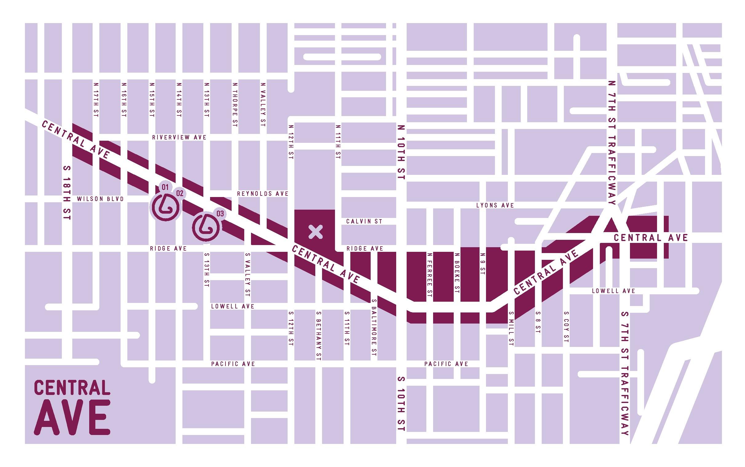 Central Avenue neighborhood map,  Smellscape KCK/KCMO , 2012.(design © Novamondo)
