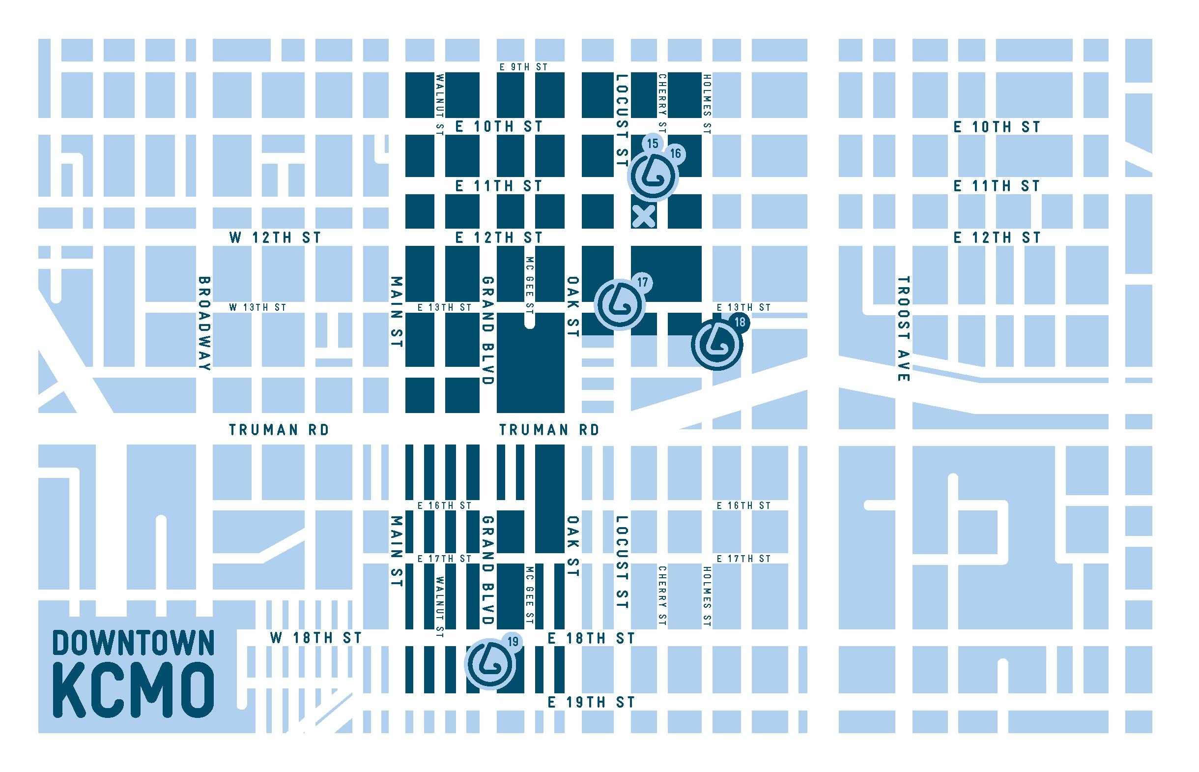 Downtown KCMO neighborhood map,  SmellScape KCK/KCMO , 2012.(design © Novamondo)