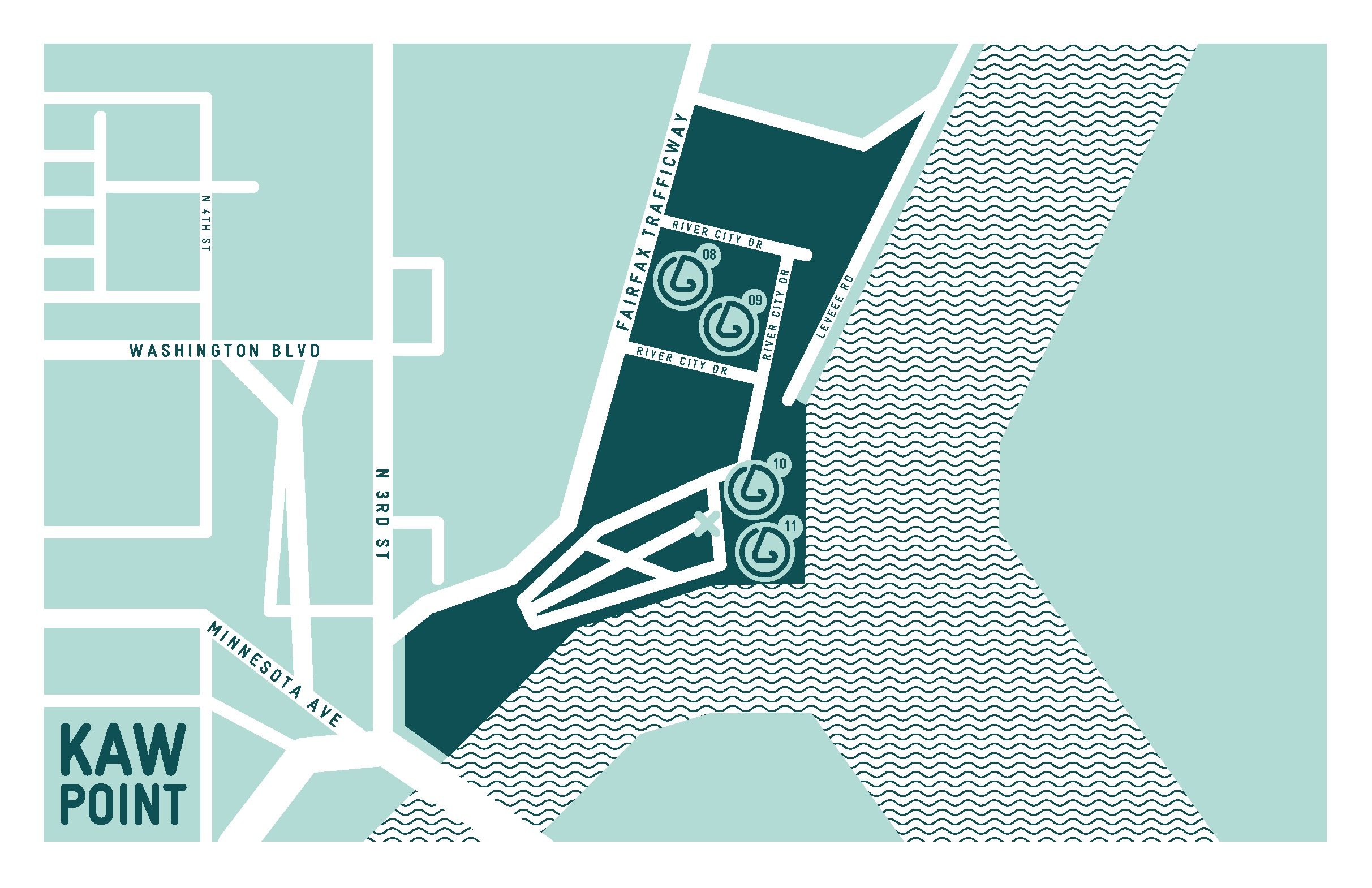 Kaw Point neighborhood map,  SmellScape KCK/KCMO , 2012.(design © Novamondo)