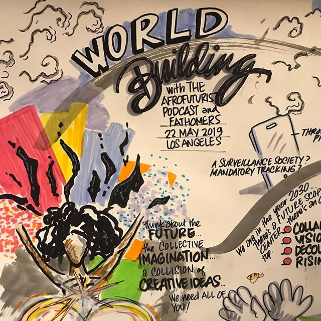 "Thanks to @bestahmed @avilonny  @ekosminsky @anthony.d.weeks @neuehouse and all who joined tonight for ""World-Building"" — a truly inspiring demonstration of generosity with new ideas, good humor, hope, concern, and encouragement for self-expression. More, more, more!"