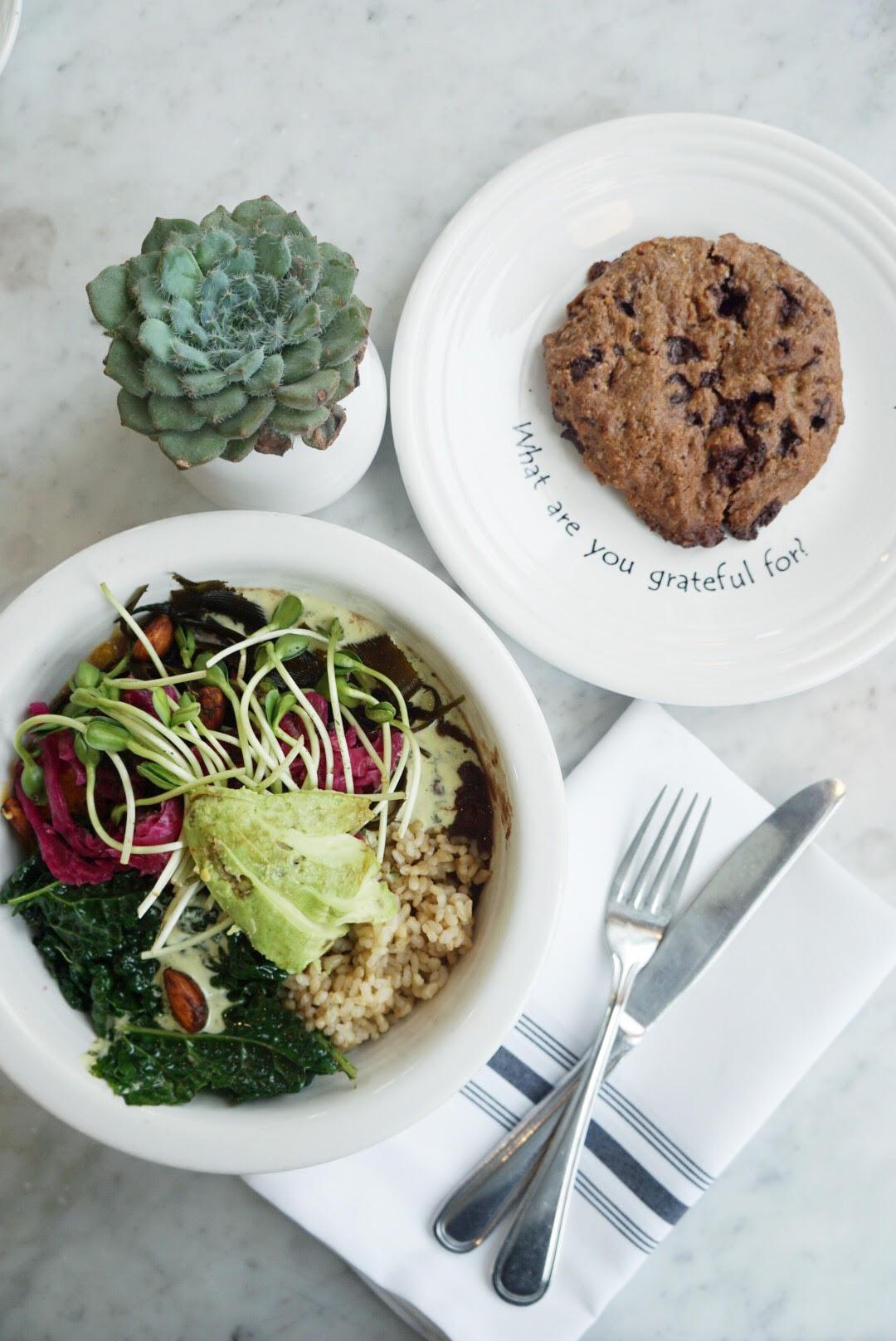 Vegan food at Cafe Gratitude