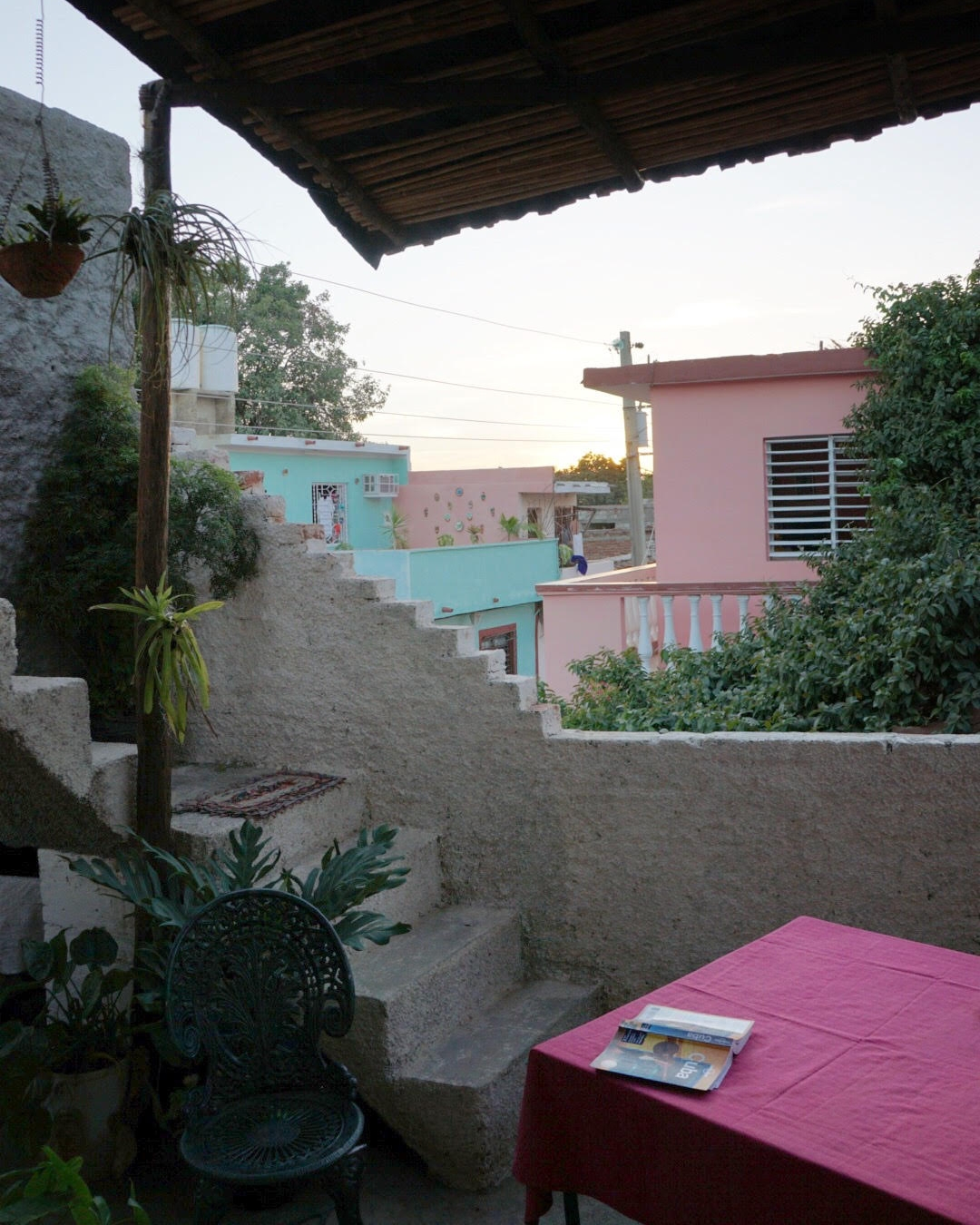 Patio at Hostal La Sirena