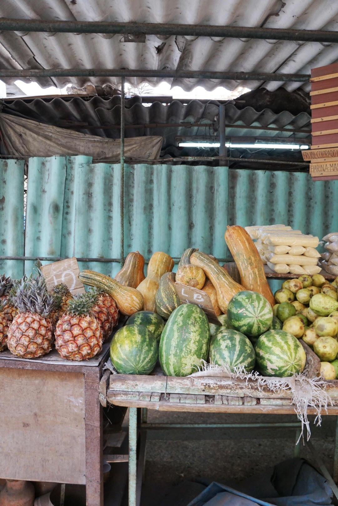 fruit stalls in centro habana