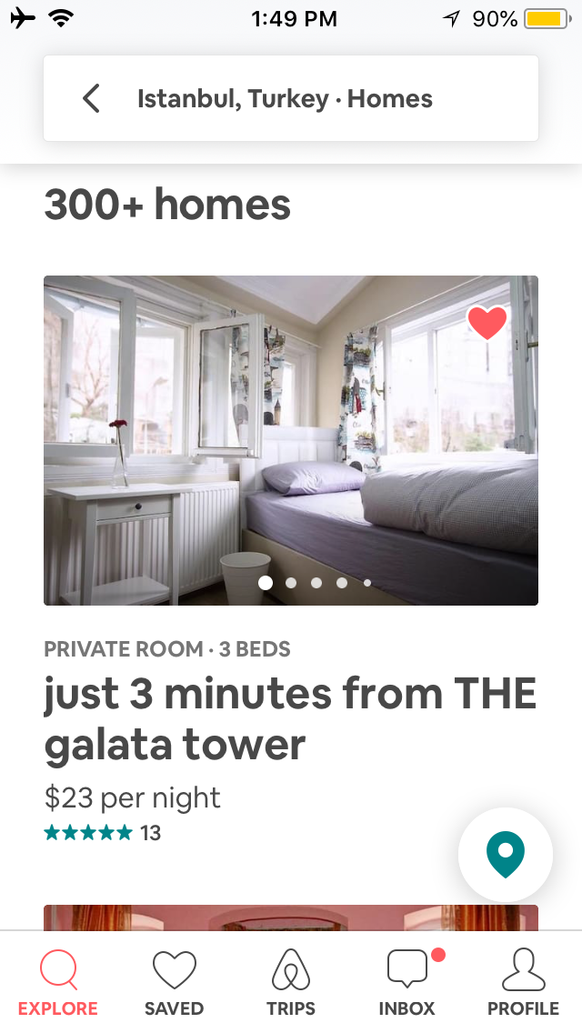 Airbnb App Screenshot