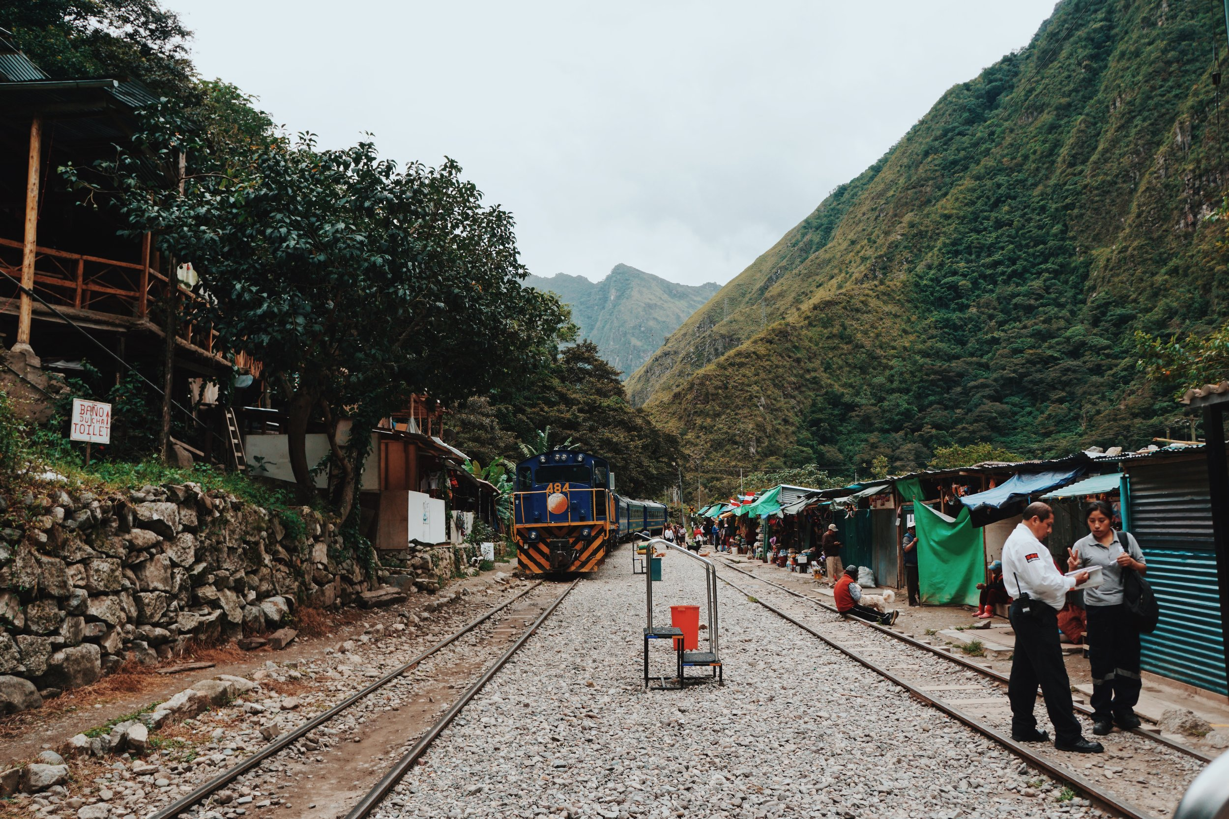 Hidroelectrica Train Station: The start of the (very long) walk along the train tracks to Aguas Calientes.