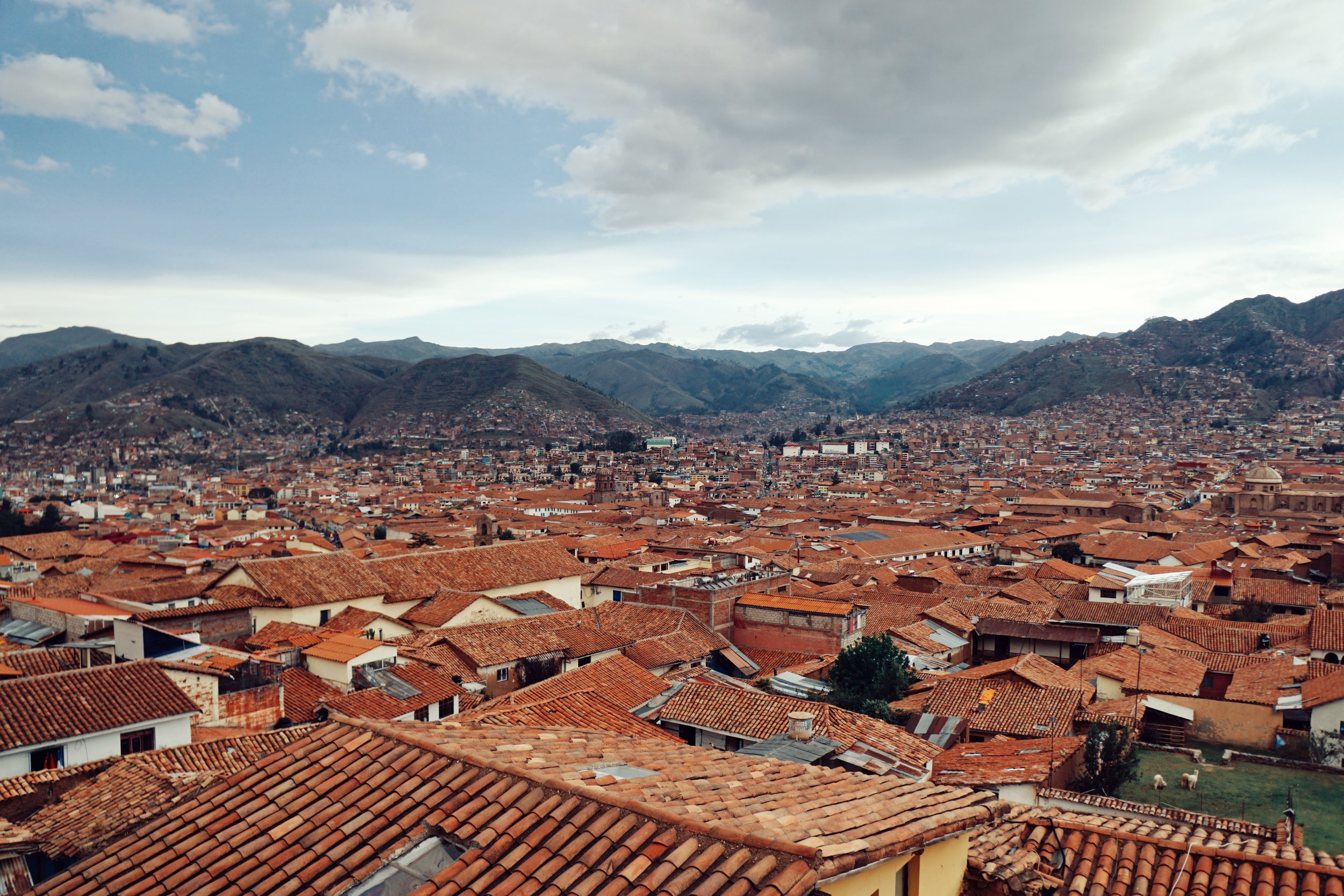 The best views in Cusco: Sunset at Limbus Resto Bar.