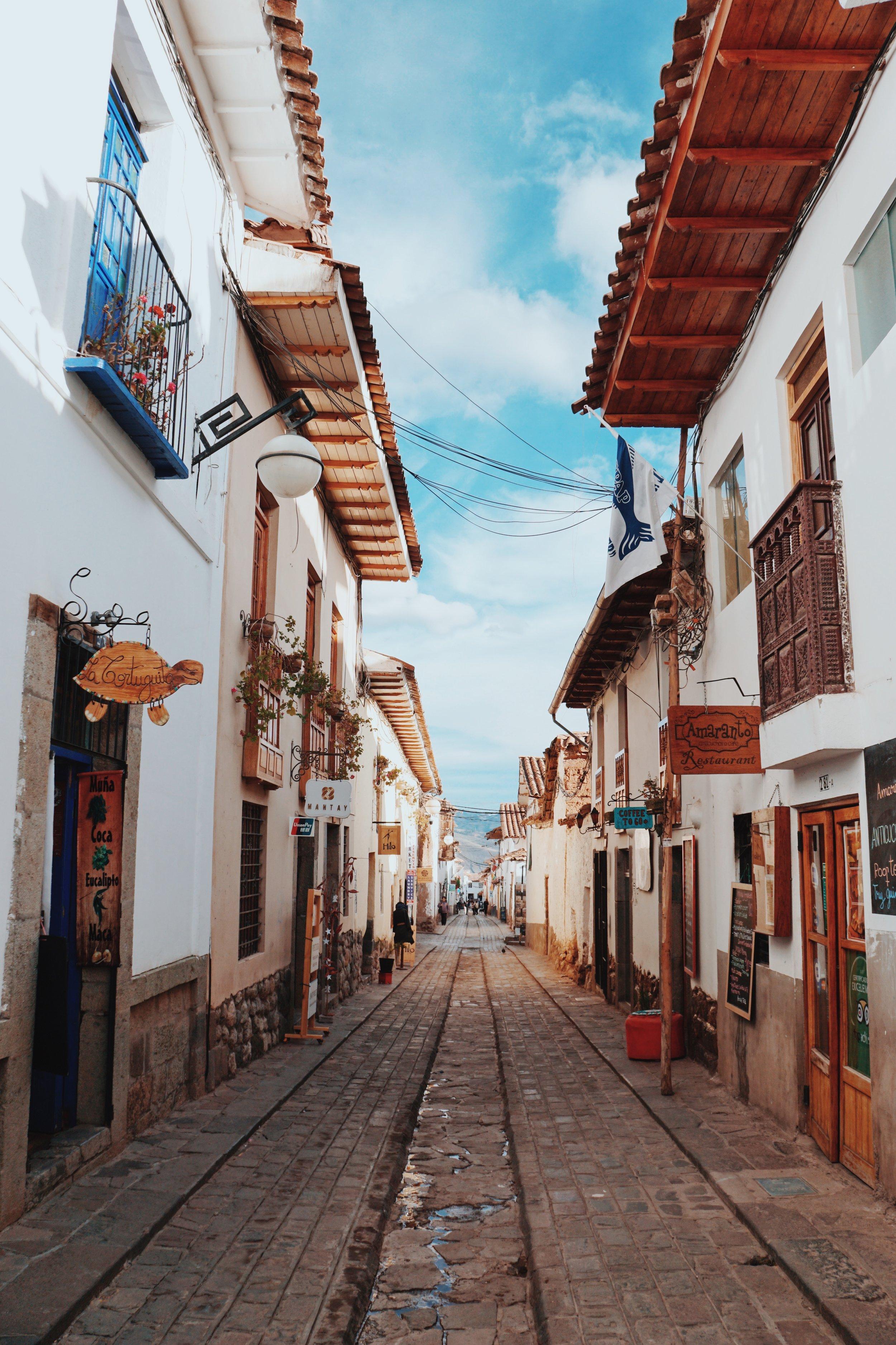 Wandering in the San Blas neighborhood.