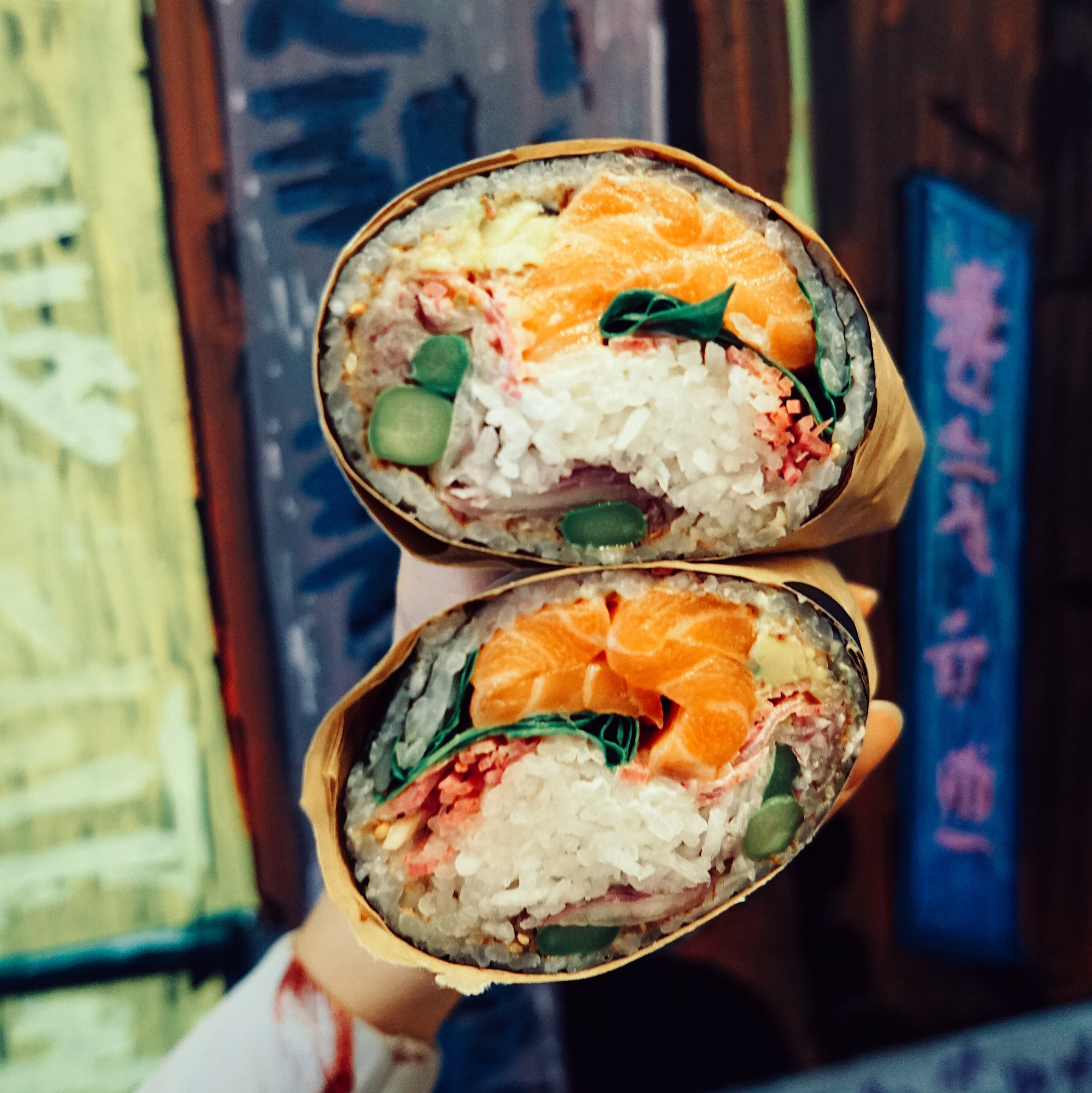 Sushi burritos at Buredo.