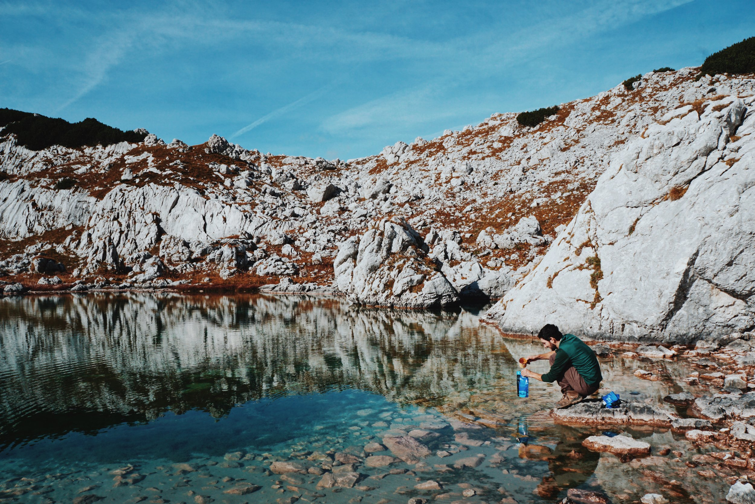 Best perk about our Sawyer Squeeze Filter is getting to drink from places like this (Triglav National Park, Slovenia).